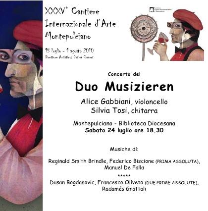 Locandina Duo Musizieren