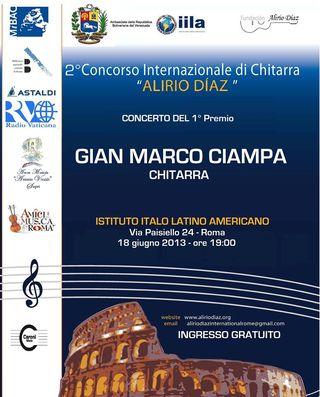 Gian Marco Ciampa all'Istituto Italo Latino Americano (Roma)