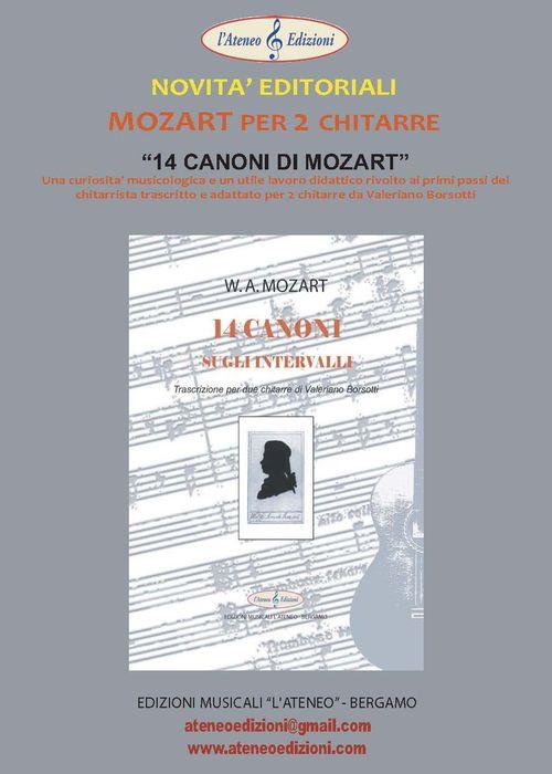 NOVITA' 14 CANONI DI MOZART