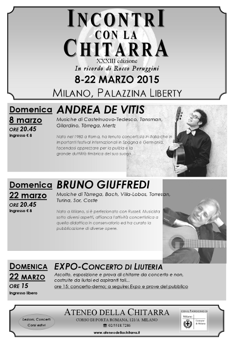 Incontri, Locandina2015