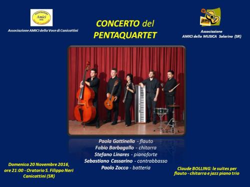 Locandina concerto pentaquartet