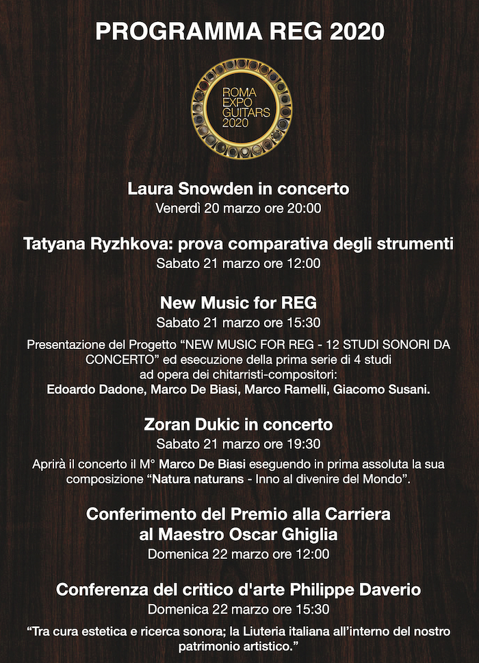 Locandina eventi REG 2020